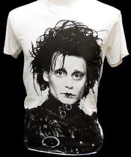 EDWARD SCISSORHANDS Tank Top, Johnny Depp White SINGLET, Mini T shirt