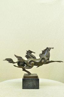 Extra Large Abstract Modern Art Horse Gallops Bronze Sculpture Statue