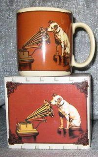 Nipper Victor Edison Dog & Phonograph Ceramic COFFEE MUG CUPS   NOS