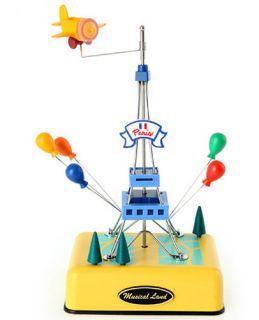 EIFFEL TOWER MUSIC BOX_EIFFEL TOWER STATUE SANKYO MUSICBOX YELLOW