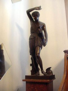 French Bronze of Athena by F, Barbedienne. Fondeur (1810 1892)