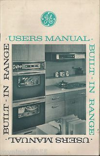 Vintage General Electric Built In Range Users Manual Only