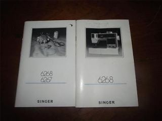 B1145) Singer 6267/6268 Electronic Sewing + Embroidery Machine manuals