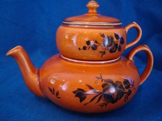 Lord Nelson Ware Elijah Cotton stacking teapot/sugar LNE30 EXCELLENT
