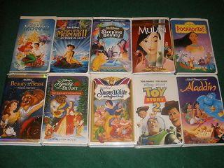 Lot of 10~Disney Classic VHS Videos Featuring Disney Princesses~Ariel