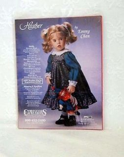 Expressions Dianna Effner/Emmy Chen Heather doll Clothes Pattern for a