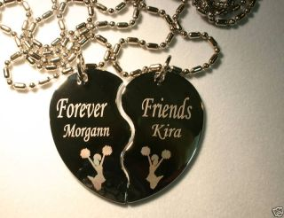 Best Friend split Heart Charms Pendant 4 Necklace Fashion Gold Plated