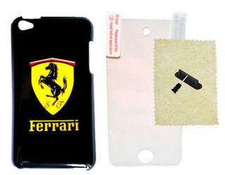 Black Ferrari iPod Touch 4th 4 Hard Case Cover Modena Spider Enzo Fast
