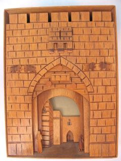 VTG WOOD HAND CRAFTED SHADOW BOX TYPE PICTURE FRAME FROM ISRAEL