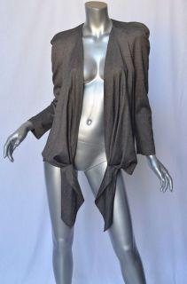 ISABEL MARANT ETOILE Womens Grey Tie Front/Wrap Blazer Jacket L 3 NEW