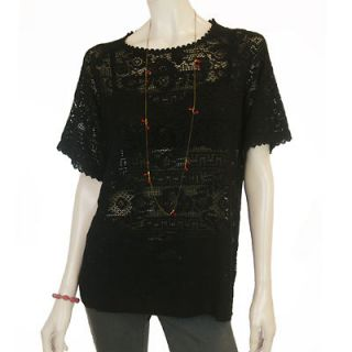 Isabel Marant Etoile black lace Roomi t shirt dress