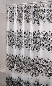 NEW Interdesign # 27192 Fiore EVA Shower Stall Curtain   Black