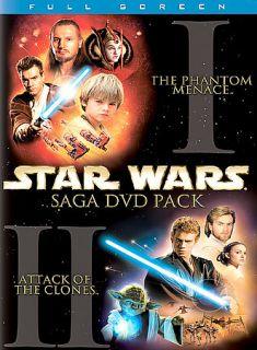 Star Wars Episodes I II 2 Pack DVD, 2002, 4 Disc Set, Full Frame