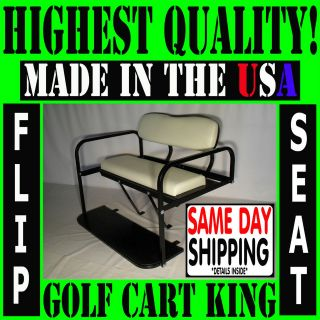 Club Car DS Golf Cart Rear Flip Back Folding Seat Kit