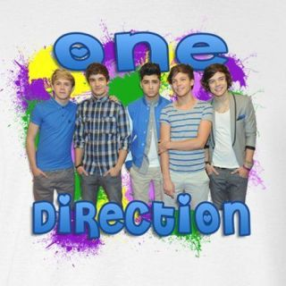ONE DIRECTION BAND *****FABRIC/T SHIRT IRON ON TRANSFER