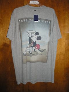 XL Mickey Mouse ~ Thru the Mirror ~ Gray Tee NWT Disney
