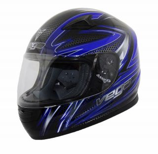 Vega Razor Blue Graphic Mach 2.0 Jr Youth Full Face Helmet