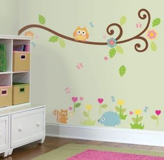 RMK1861SCS   Happi Scroll Tree Branch Wall Decals Stickers Decor