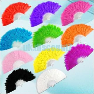 large feather fan in Clothing,