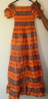 African Womens Maxi Dress 100% Natural Cotton Formal Outfit