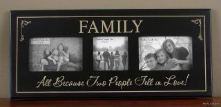 FAMILY ALL BECAUSE TWO PEOPLE FELL LOVE PHOTO FRAME Primitive Country