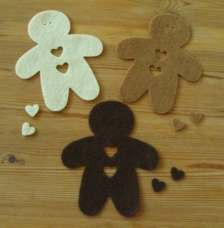Felt Die Cuts   Gingerbread Man   new Colours   Topper   Cards