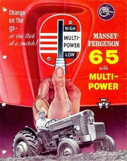 MASSEY FERGUSON MF 65 TRACTOR OPERATIONS MAINTENANCE MANUAL + tuning
