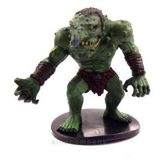 Dungeons & Dragons Miniatures Feral Troll Figure NO CARD D&D RARE XMAS