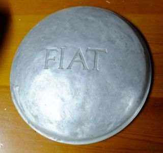 Rare Vintage Fiat 500 Topolino Aluminum Hub Cap Wheel Cover FREE WORLD