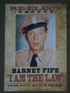Show (TV Show) Barney Fife T Shirt (Size: XXL, Color: Green