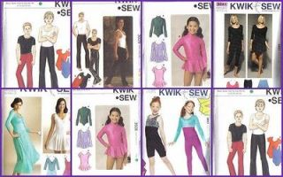 Pattern Kwik Sew Sewing Pattern Unisex Men Women Children Gymnast