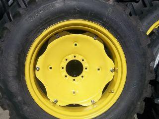 TWO 13.6X28 Deere, Kubota FIRESTONE SAT II Farm Tractor Tires w/Rims