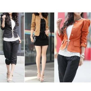 XL XXL Womens Slim Fit Double breasted Puff Sleeve Suit Blazer
