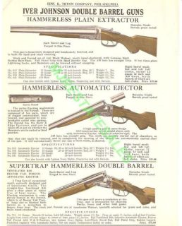 1928 Iver Johnson Double Barrel Shogun Caalog AD