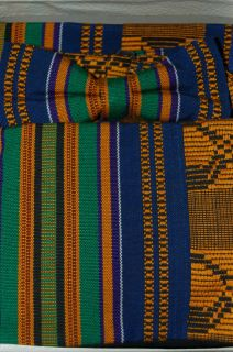 BLUE/GOLD/GREE​N/PURPLE TUX CUMMERBUND/BOW TIE/POCKET SQ FROM GHANA