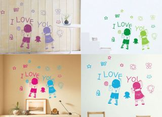 Children Graffiti Art Wall Stickers Decal Wallpaper #Cartoon0065WW