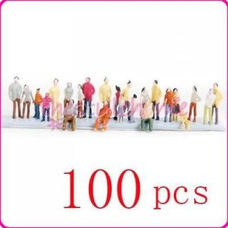 100 Painted Model People Train Scenery Set Scale 1150