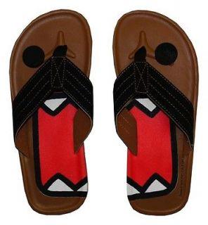 Domo Kun Face Japan Cool Flip Flops Sandals