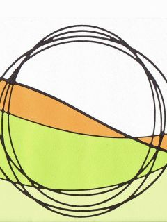 Geo Circles Lime Green Gold White Sale$6 Wallpaper Border 1057