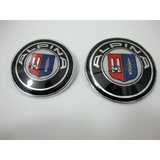 High Quality BMW Alpina 82mm + 73mm Hood Trunk Emblem