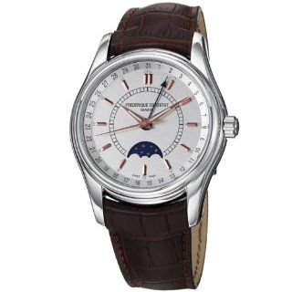 Frederique Constant Mens FC330V6B6 Index Brown Strap Moon Phase Watch