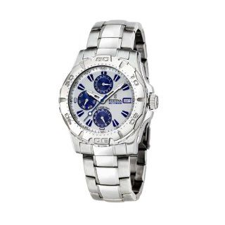 Stainless Steel Quartz Watch with Blue Dial Watches