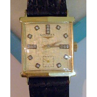 1962 Longines MEN Watch 14k Solid Gold Diamond Watches