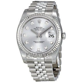 Rolex Datejust Rhodium Diamond Dial 18kt White Gold Fluted Watch