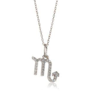 KC Designs Zodiac Diamond 14k White Gold Scorpio Pendant Necklace,16