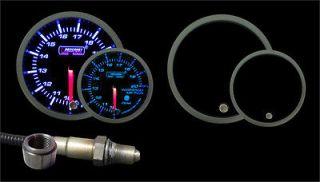 Wideband Air Fuel Ratio Gauge w/O2 sensor Blue/White w/ 0 5v output
