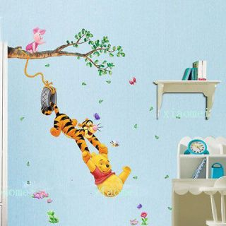 Cute Winnie the Pooh Swing Tree Removable PVC Wall Sticker Decal Home