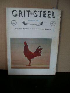 December 1962 Grit and Steel Gamefowl Magazine Good Condition
