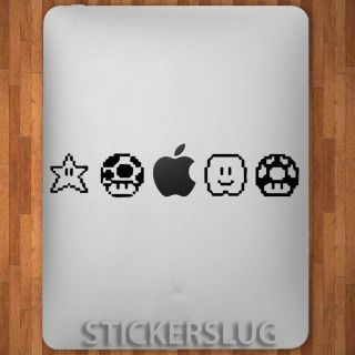 GAME POWER UP Vinyl Decal Sticker for Apple i Pad 1 2 & 3 retro game