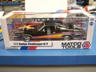 GreenLight 118 Matco Tools 1970 Dodge Challenger R/T in black